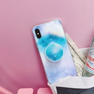 *NEW iPhone X/XS/7/8/Plus Marble Case W/Holder